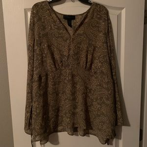 Beautiful blouse by lane Bryant